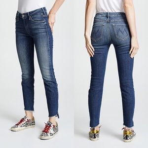 MOTHER Denim The Looker Ankle Step Fray Jeans